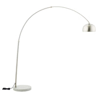 ARMA ROUND MARBLE BASE FLOOR LAMP IN WHITE