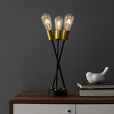 THRICE BRASS METAL TABLE LAMP