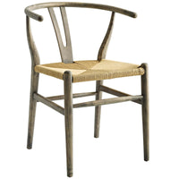 HABARI DINING WOOD SIDE CHAIR IN WEATHERED GRAY