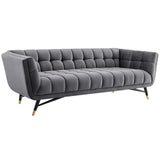 BOVA UPHOLSTERED FABRIC SOFA IN GRAY