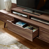"KALYPSO 74"" TV STAND IN WALNUT"