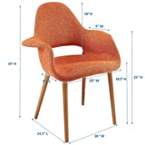 VALOR DINING ARMCHAIR IN ORANGE