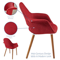 VALOR DINING ARMCHAIR IN RED
