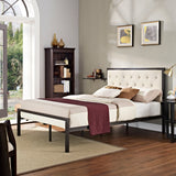 AYVA FULL FABRIC BED IN BROWN BEIGE