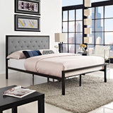 AYVA FULL FABRIC BED IN BROWN GRAY