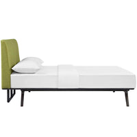 DEXTER QUEEN BED IN CAPPUCCINO GREEN