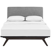 DEXTER QUEEN BED IN CAPPUCCINO GRAY