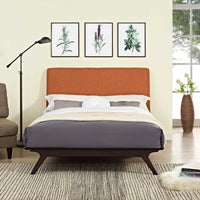 DEXTER QUEEN BED IN CAPPUCCINO ORANGE