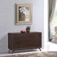 DEXTER WOOD DRESSER IN CAPPUCCINO