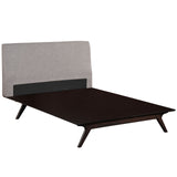 DEXTER KING BED IN CAPPUCCINO GRAY