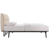 HAWKINS KING BED IN BLACK BEIGE