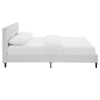 MONO QUEEN VINYL BED IN WHITE
