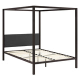 PRIZM QUEEN CANOPY BED FRAME IN BROWN GRAY