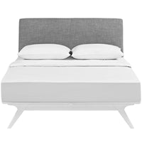 DEXTER KING BED IN WHITE GRAY