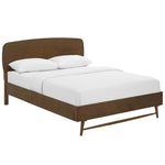 CAPPI QUEEN WOOD BED IN CHESTNUT