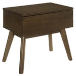 LOGAN WOOD NIGHTSTAND IN WALNUT