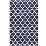 CHARLOTTE MOROCCAN TRELLIS 5X8 AREA RUG IN NAVY AND IVORY