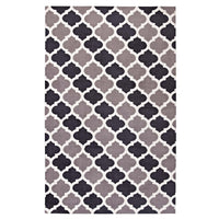 CHARLOTTE MOROCCAN TRELLIS 5X8 AREA RUG IN CHARCOAL AND BLACK