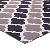 CHARLOTTE MOROCCAN TRELLIS 8X10 AREA RUG IN CHARCOAL AND BLACK