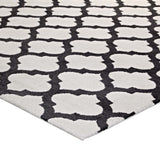 CHARLOTTE MOROCCAN TRELLIS 8X10 AREA RUG IN IVORY AND CHARCOAL