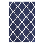 FOCUS MOROCCAN TRELLIS 5X8 AREA RUG IN NAVY AND IVORY