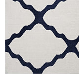 FOCUS MOROCCAN TRELLIS 8X10 AREA RUG IN IVORY AND NAVY