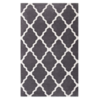 FOCUS MOROCCAN TRELLIS 8X10 AREA RUG IN CHARCOAL AND IVORY