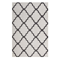FOCUS MOROCCAN TRELLIS 8X10 AREA RUG IN IVORY AND CHARCOAL