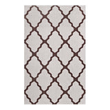 FOCUS MOROCCAN TRELLIS 8X10 AREA RUG IN BROWN AND GRAY