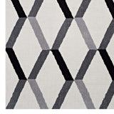 ELEVATE GEOMETRIC CHEVRON 5X8 AREA RUG IN BLACK AND WHITE