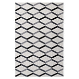 ELEVATE GEOMETRIC CHEVRON 8X10 AREA RUG IN BLACK AND WHITE