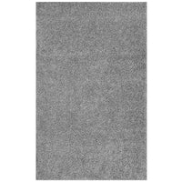 FLATTE SOLID 5X8 SHAG AREA RUG IN SILVER GRAY