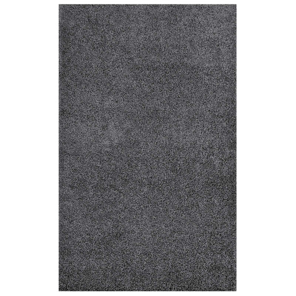 FLATTE SOLID 5X8 SHAG AREA RUG IN DARK GRAY