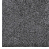 FLATTE SOLID 8X10 SHAG AREA RUG IN DARK GRAY