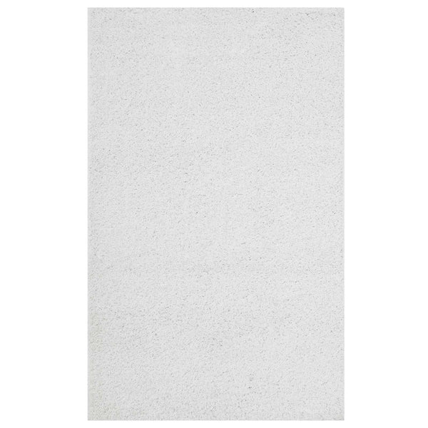 FLATTE SOLID 8X10 SHAG AREA RUG IN IVORY WHITE