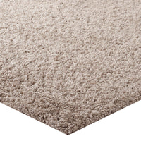 FLATTE SOLID 5X8 SHAG AREA RUG IN BEIGE AND IVORY