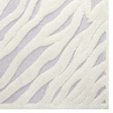 SKIG ABSTRACT WAVY STRIPED 8X10 SHAG AREA RUG IN IVORY AND LIGHT GRAY