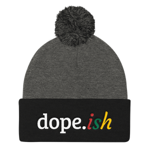 Dope-ish Sports Pom Pom Knit Cap