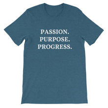 Load image into Gallery viewer, Passion Purpose Progress Short-Sleeve Unisex T Shirt
