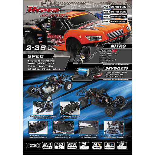 HYPER 10 SCE 1/10 ELECTRIC RTR