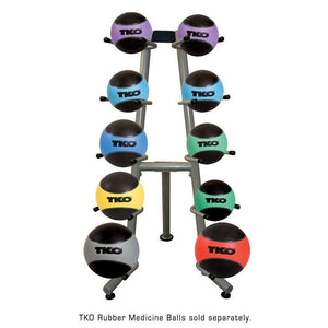 TKO Medicine Ball Rack - Holds 10