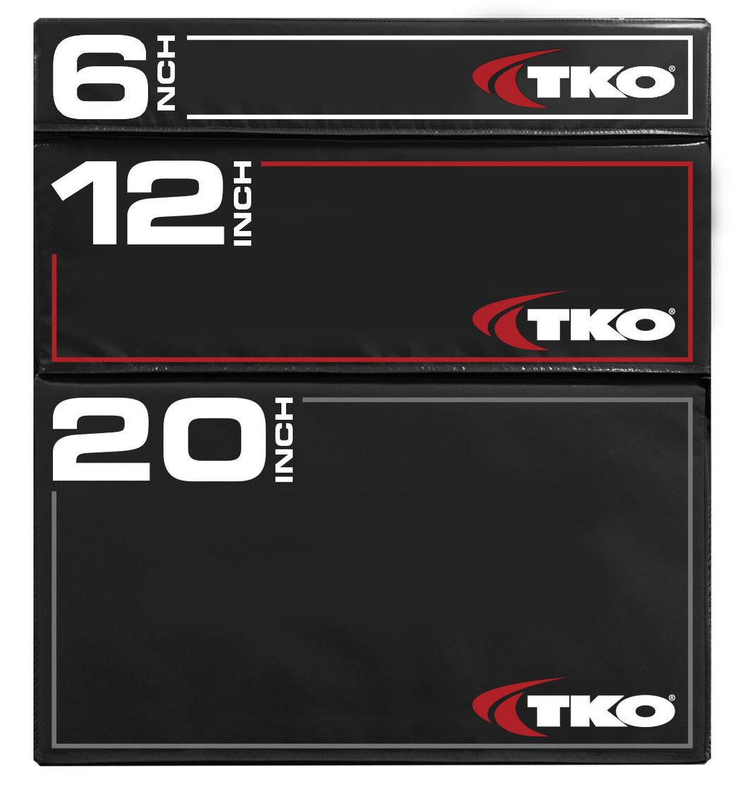 TKO Soft Plyo Box Set (15cm-30cm-45cm) (263PLBS)