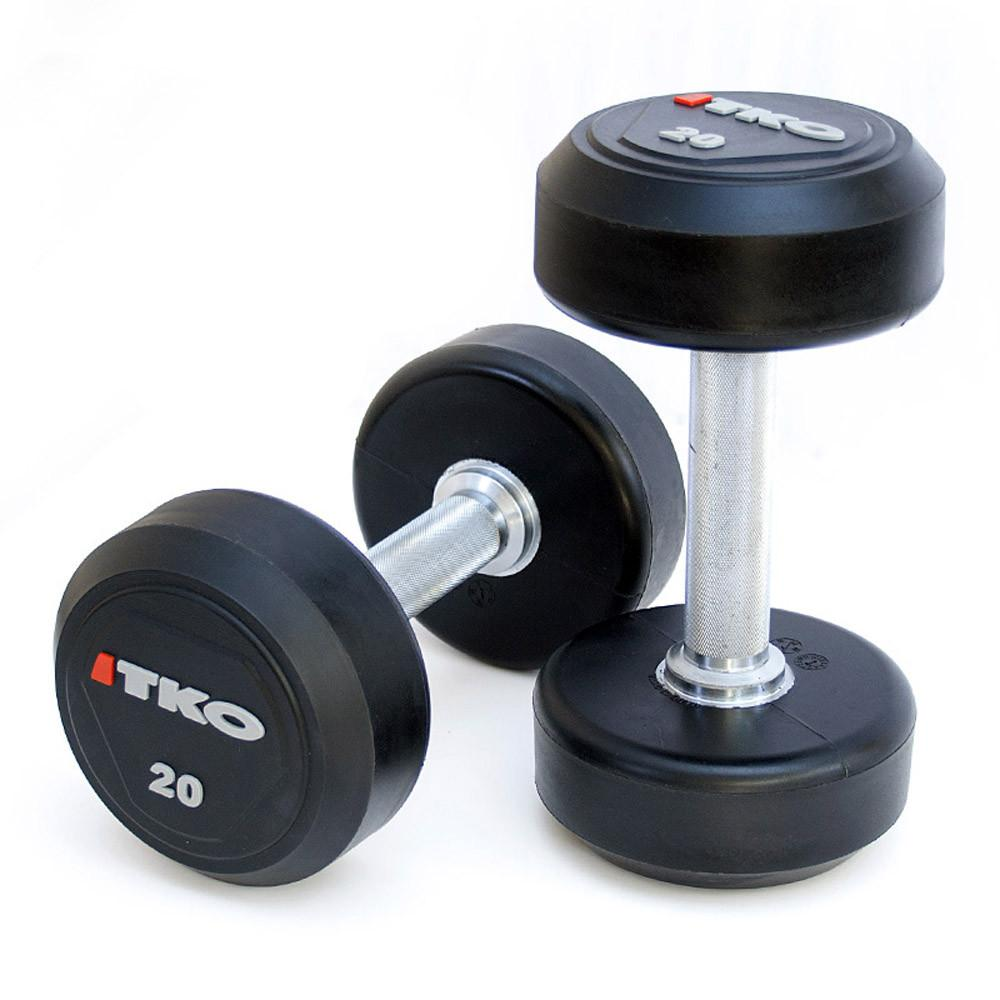 Dumbbell 34kg Pair Solid Steel Urethane TKO
