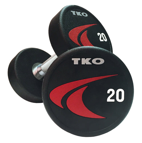 Dumbbell Set 02-20kg (2kg increments /10 pairs) Solid Steel Signature Urethane TKO