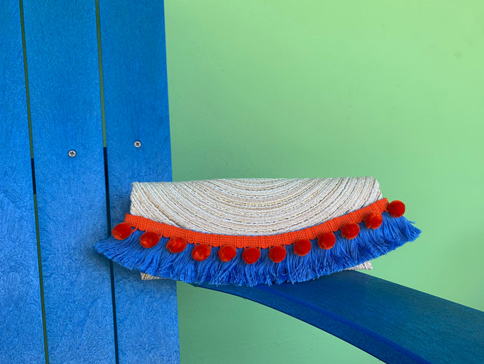 The Blue & Orange Clutch