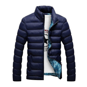 Puffer Jacket Casual Slim Stand Collar