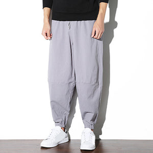 Chinese Style Linen Casual Baggy Pants for Men