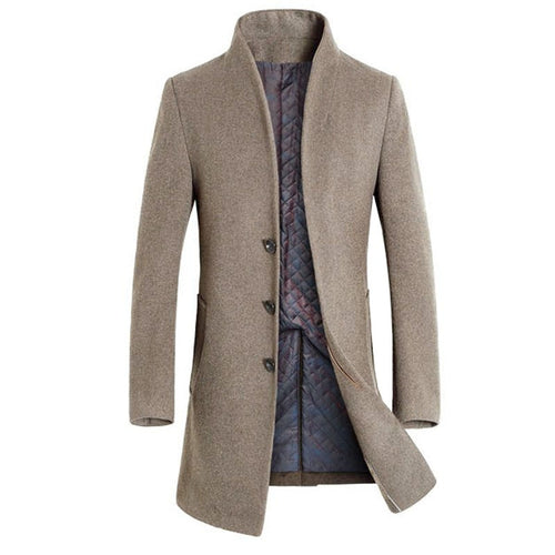 British Style Men Woolen Coats Trench
