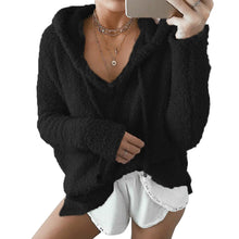 Load image into Gallery viewer, Women's Casual V Neck Long Sleeve Loose Fit Sweater