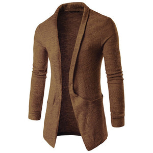 Classic Men Sweater Open Stitch Cardigan
